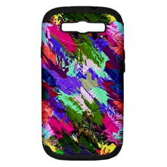 Tropical Jungle Print And Color Trends Samsung Galaxy S III Hardshell Case (PC+Silicone)