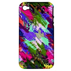 Tropical Jungle Print And Color Trends Apple iPhone 4/4S Hardshell Case (PC+Silicone)