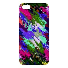 Tropical Jungle Print And Color Trends Apple Iphone 5 Premium Hardshell Case