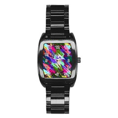 Tropical Jungle Print And Color Trends Stainless Steel Barrel Watch