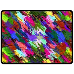 Tropical Jungle Print And Color Trends Double Sided Fleece Blanket (large)