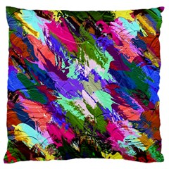 Tropical Jungle Print And Color Trends Large Flano Cushion Case (one Side)