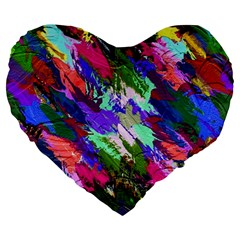 Tropical Jungle Print And Color Trends Large 19  Premium Flano Heart Shape Cushions