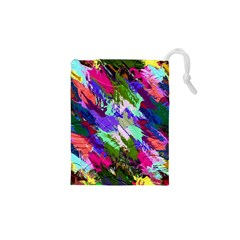 Tropical Jungle Print And Color Trends Drawstring Pouches (XS)