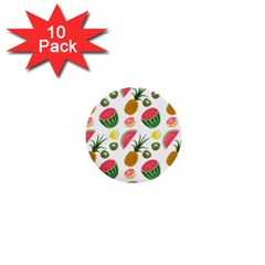 Fruits Pattern 1  Mini Buttons (10 Pack)
