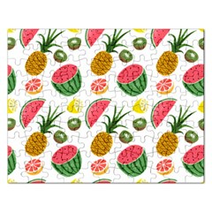 Fruits Pattern Rectangular Jigsaw Puzzl