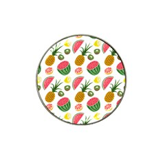 Fruits Pattern Hat Clip Ball Marker (4 Pack)