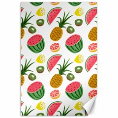 Fruits Pattern Canvas 24  X 36