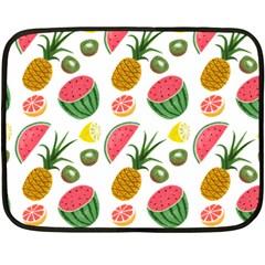Fruits Pattern Fleece Blanket (Mini)