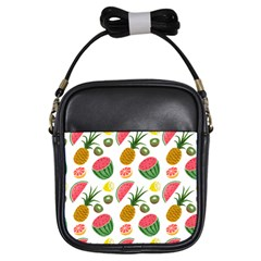 Fruits Pattern Girls Sling Bags