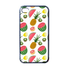 Fruits Pattern Apple Iphone 4 Case (black)