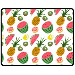 Fruits Pattern Double Sided Fleece Blanket (medium)