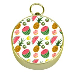 Fruits Pattern Gold Compasses