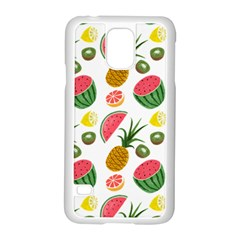 Fruits Pattern Samsung Galaxy S5 Case (white)