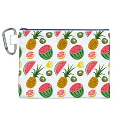 Fruits Pattern Canvas Cosmetic Bag (xl)