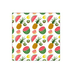 Fruits Pattern Satin Bandana Scarf
