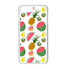 Fruits Pattern Apple Iphone 7 Plus White Seamless Case