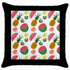 Fruits Pattern Throw Pillow Case (Black)