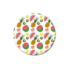 Fruits Pattern Magnet 3  (Round)
