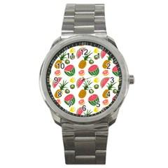 Fruits Pattern Sport Metal Watch