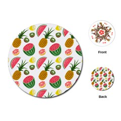 Fruits Pattern Playing Cards (Round)
