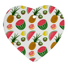 Fruits Pattern Heart Ornament (Two Sides)