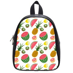 Fruits Pattern School Bags (small)