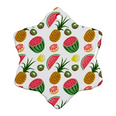 Fruits Pattern Snowflake Ornament (Two Sides)