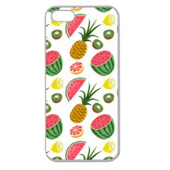 Fruits Pattern Apple Seamless Iphone 5 Case (clear)