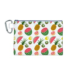 Fruits Pattern Canvas Cosmetic Bag (m)