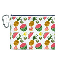 Fruits Pattern Canvas Cosmetic Bag (L)