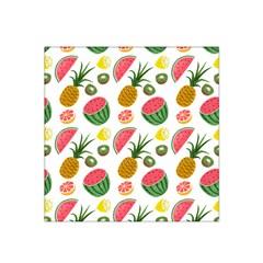 Fruits Pattern Satin Bandana Scarf