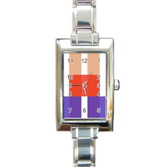 Compound Grid Rectangle Italian Charm Watch