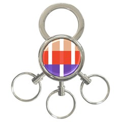 Compound Grid 3 Ring Key Chains