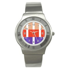 Compound Grid Stainless Steel Watch