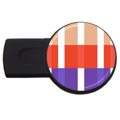 Compound Grid Usb Flash Drive Round (4 Gb)