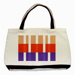 Compound Grid Basic Tote Bag