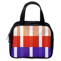 Compound Grid Classic Handbags (One Side)