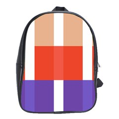 Compound Grid School Bags(Large)