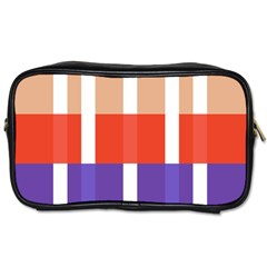 Compound Grid Toiletries Bags 2-Side