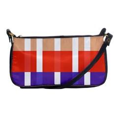 Compound Grid Shoulder Clutch Bags