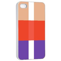 Compound Grid Apple iPhone 4/4s Seamless Case (White)