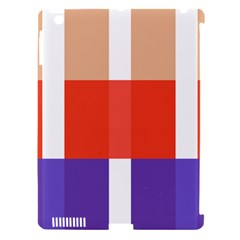 Compound Grid Apple Ipad 3/4 Hardshell Case (compatible With Smart Cover)
