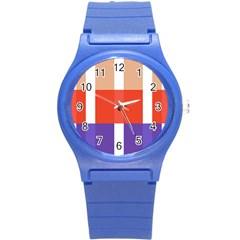 Compound Grid Round Plastic Sport Watch (s)