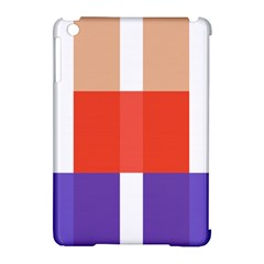 Compound Grid Apple Ipad Mini Hardshell Case (compatible With Smart Cover)