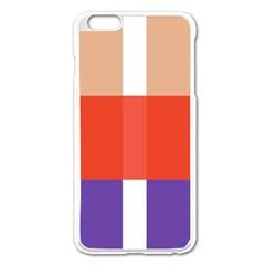 Compound Grid Apple Iphone 6 Plus/6s Plus Enamel White Case