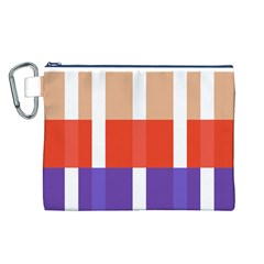 Compound Grid Canvas Cosmetic Bag (l)