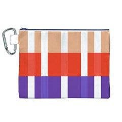 Compound Grid Canvas Cosmetic Bag (XL)