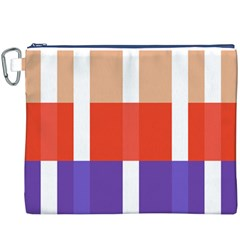 Compound Grid Canvas Cosmetic Bag (xxxl)