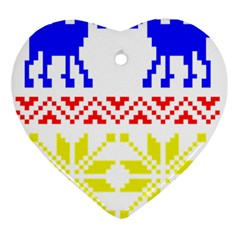 Jacquard With Elks Ornament (Heart)